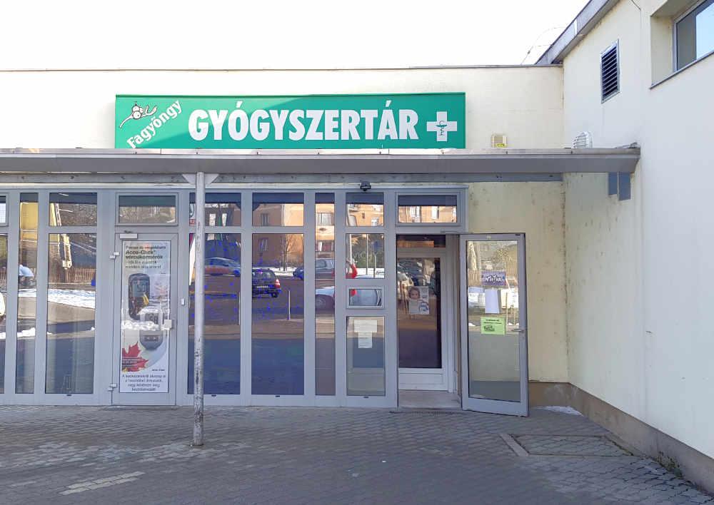 Fagyöngy gyógyszertár Salgótarján Bejárata